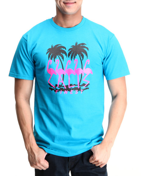 Cali's Finest Blue C F Flamingo S/S Tee