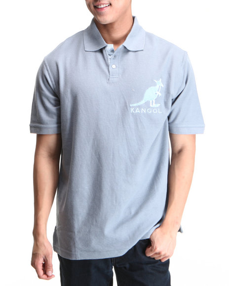 - Men Light Grey Pique Polo