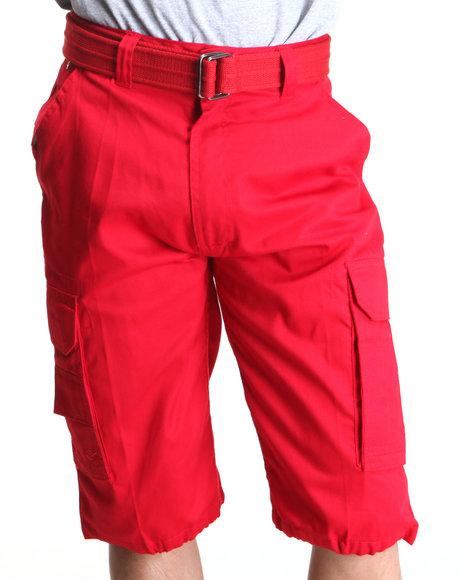 Miskeen Men Twill Jean Shorts Red 38