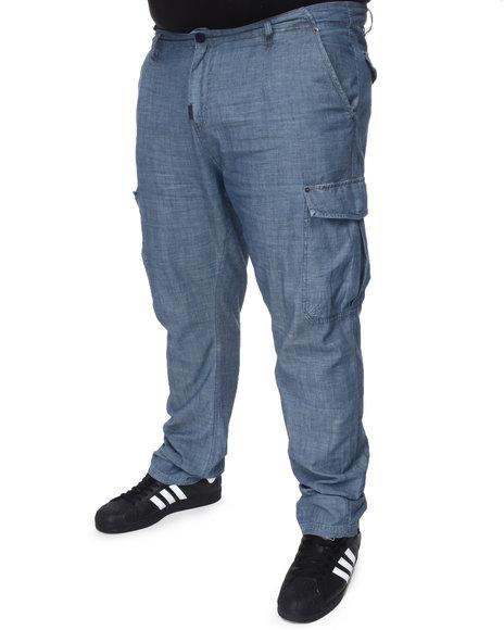 LRG Men Blue Bon Voyage Cargo True-Straight Pants (B&T)