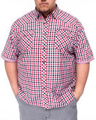 Men - Gingham Plaid Short Sleeve Woven Shirt (B&T)