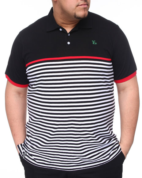 LRG Men Black Down From Earth S/S Polo (B&T)