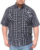 Men - Plaid Short Sleeve Woven Shirt (B&T)