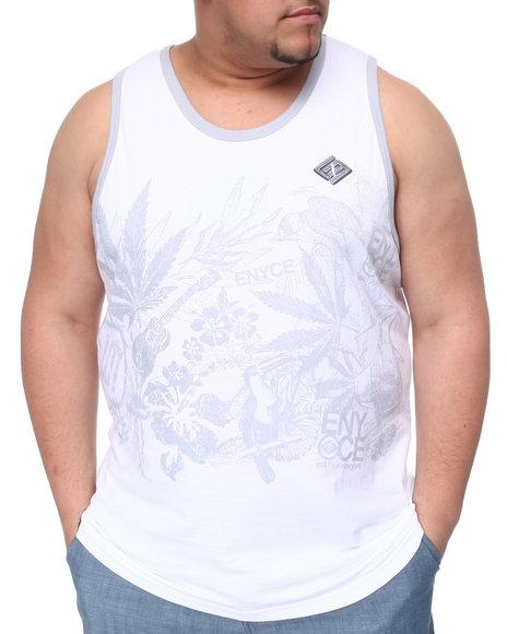 Enyce Men Light Grey,White Endless Summer Tank (B&T)