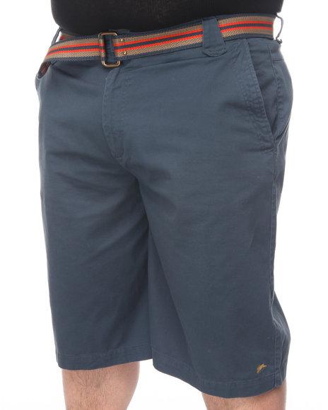A Tiziano Men Navy Cats Flat Front Shorts (B&T)