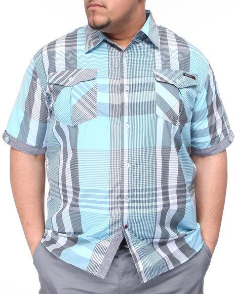Enyce Men White,Light Blue,Charcoal Noel S/S Button-Down (B&T)