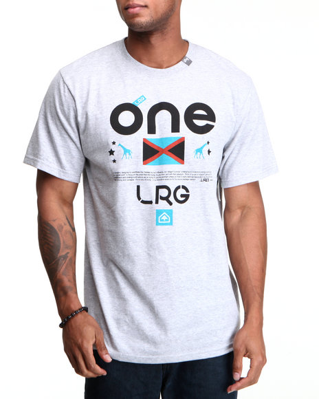 LRG Men Grey One Lrg Tee