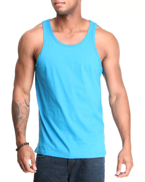 Buyers Picks - Men Teal Basic Solid Tank Top - $3.99
