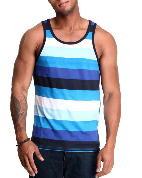 Buyers Picks Men Light Blue The Shadow Tank Top