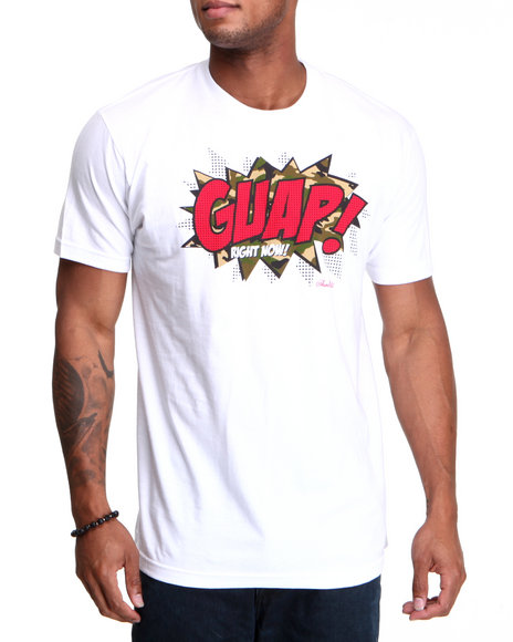 Finally Famous Men White Guap S/S Tee