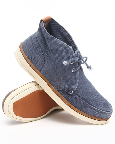 Timberland - Men Blue Earthkeepers Hookset Fabric Chukka Sneakers