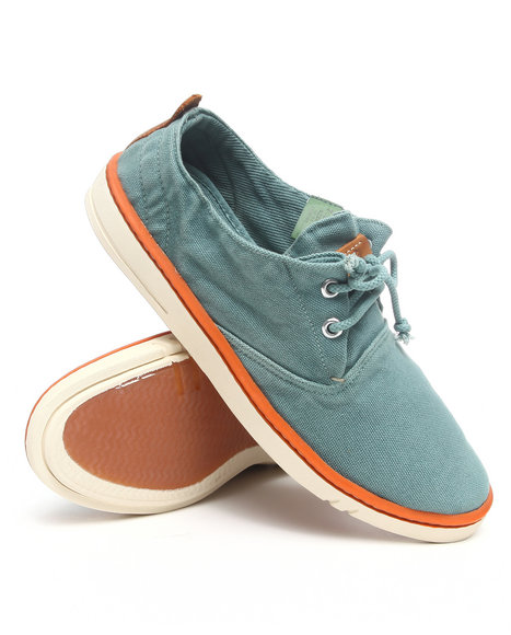 Timberland - Men Teal Earthkeepers Hookset Handcrafted Fabric Oxford Sneakers