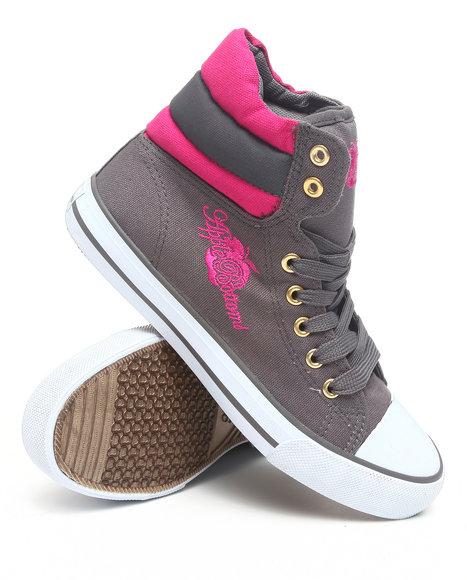 Apple Bottoms Women Grey Kalo Colorblock Hightop Canvas Sneaker