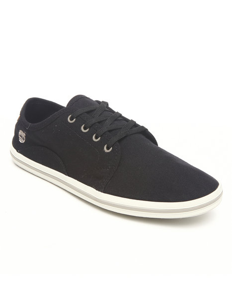 Timberland Men Black Earthkeepers Casco Bay Canvas Oxford Sneakers