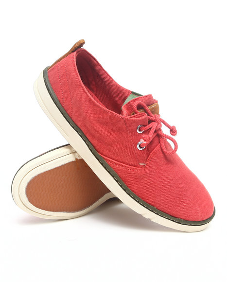 Timberland - Men Red Earthkeepers Hookset Handcrafted Fabric Oxford Sneakers