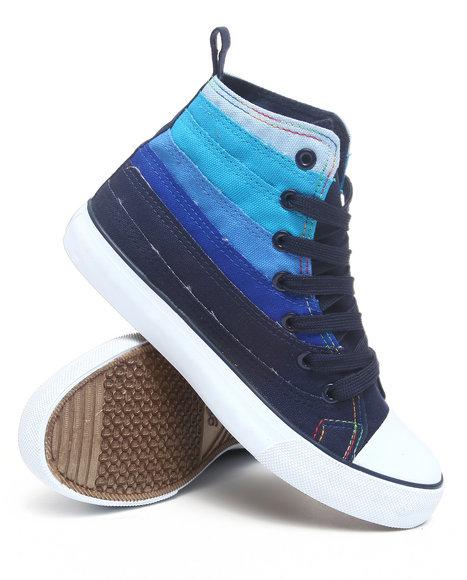 Apple Bottoms Women Blue Kamile Gradient Colorblocked Canvas Sneaker