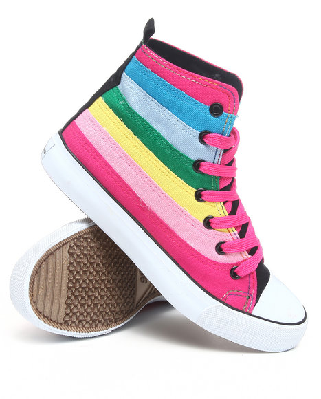 Apple Bottoms - Women Pink Kamile Gradient Colorblocked Canvas Sneaker - $24.99