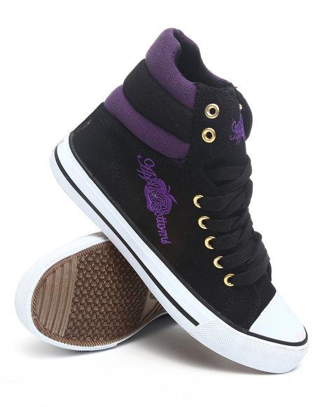 Apple Bottoms Women Black,Purple Kalo Colorblock Hightop Canvas Sneaker