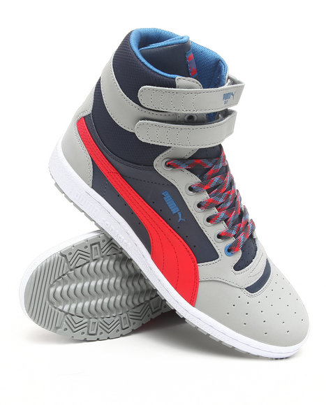 Puma Men Grey Sky 2 Hi L Nbk Sneakers
