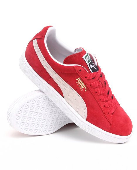 Puma - Men Red Suede Classic Sneakers