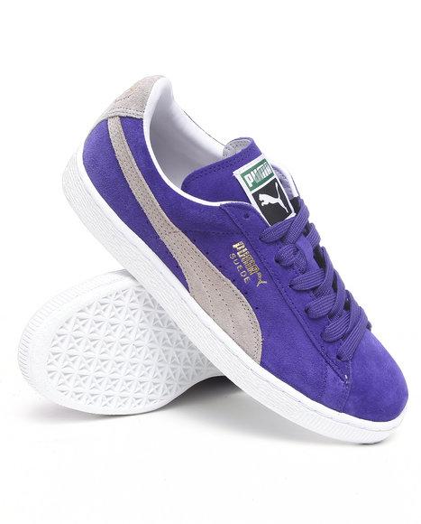 Puma Men Purple Suede Classic Sneakers