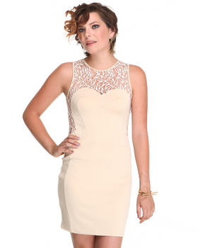 DJP Boutique - Body Con Dress w/lace back