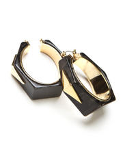 Vince Camuto - Wood Resin Hoop Earrings