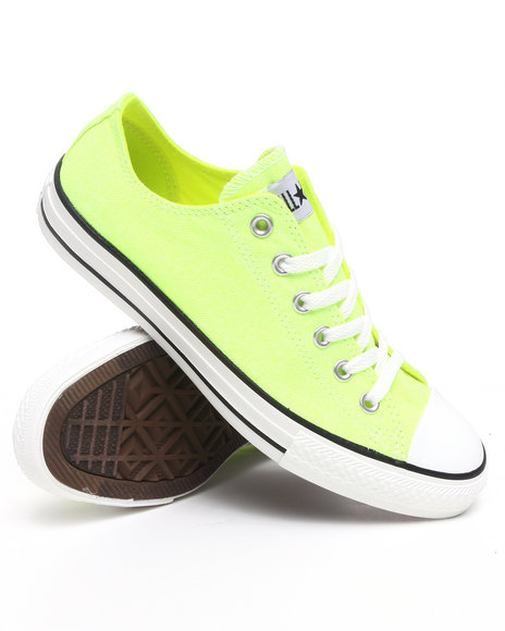 Converse Men Lime Green,Yellow Chuck Taylor Ox Sneakers