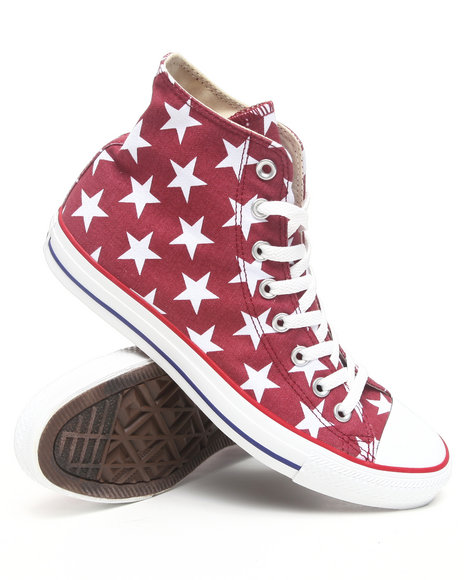 Converse Men Red Chuck Taylor Hi Star Sneakers