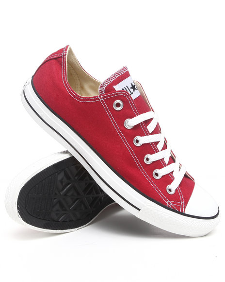 Converse Men Red Chuck Taylor Ox Sneakers