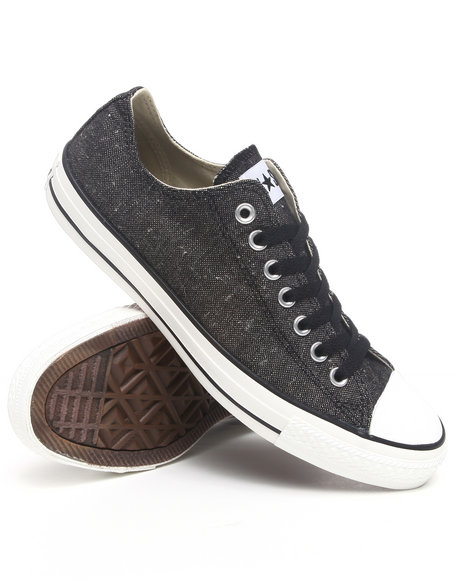 Converse Men Black Chuck Taylor Ox Black Denim Sneakers