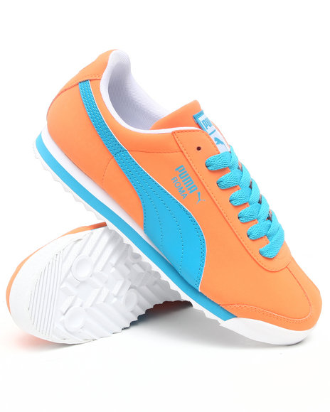 Puma Men Blue,Orange Roma Sl Nbk Sneakers