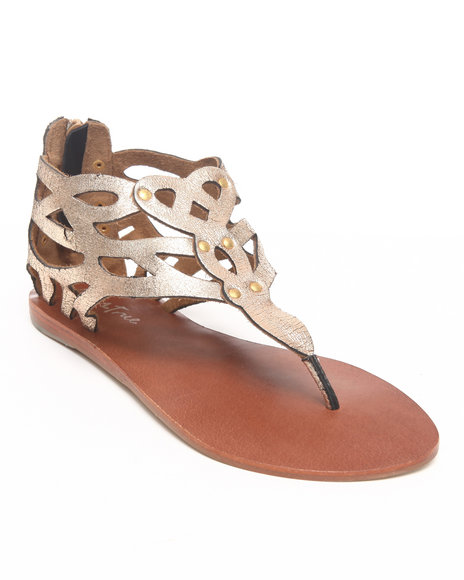 Diba True Women Gold Kesha Woven Leather Sandal