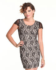 Dresses - Open Back Lace Dress