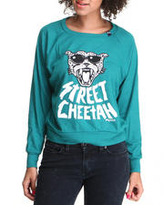 Sweatshirts - Street Cheetah Crewneck Sweatshirt