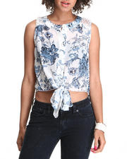 Fashion Lab - Rose Printed Chiffon Top