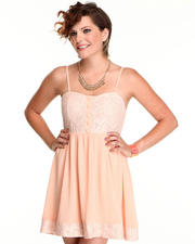 Dresses - Lace Dress with chiffon