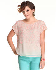 Vince Camuto - All Over Embellished Sequin Blouse