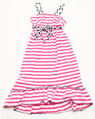 Dresses - STRIPED DRAWSTRING DRESS (4-6X)