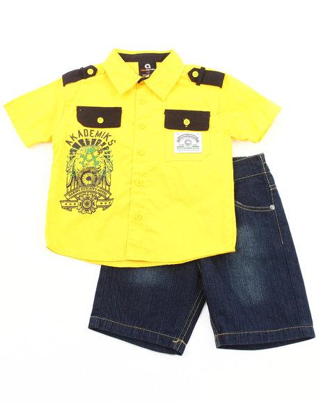 Akademiks Boys Multi 2 Pc Set - Woven & Shorts (4-7)