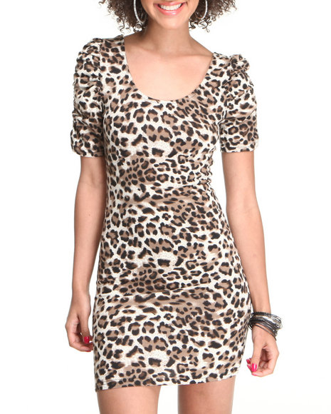 Fashion Lab Women Animal Print Animal Hunter Dress