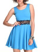Dresses - Debbie Cakes Skater Dress w/lace