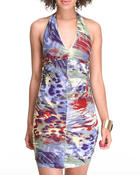 Dresses - Canvas Printed Mini Dress