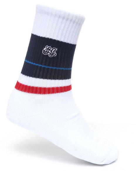 LRG Men White High Riser Crew Socks