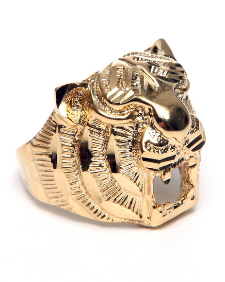 Melody Ehsani Women Tiger Head Ring Gold 1SZ