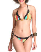 Women - Sweaterlicious Triangle Top Bikini Swim Set