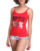 Women - Pink Panther Knit Cami & Boyshort Set