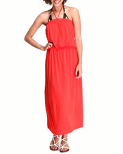 Swimwear - Tube Swimsuit Coverup Maxi Dress