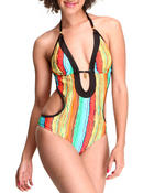 Women - Sweathericious Halter Sexy Monokini Swimsuit
