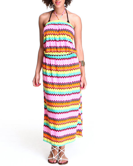 Coogi - Women Multi Tube Swimsuit Coverup Maxi Dress